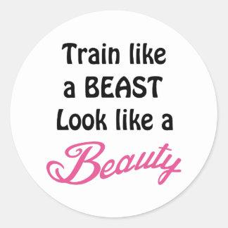 Train Like A Beast Classic Round Sticker