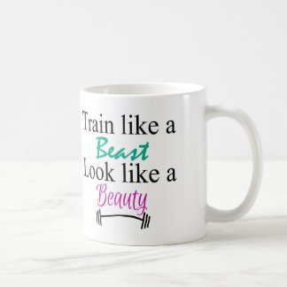Train like a beast coffee mug
