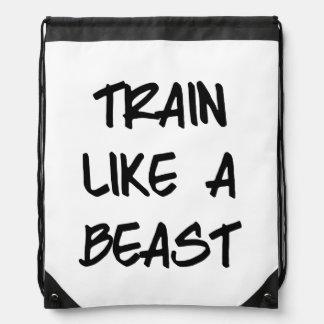 Train Like a Beast Drawstring Bag