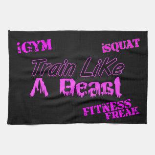 "Train Like A Beast Ladies Gym Towel 16"" x 24"" at Zazzle"