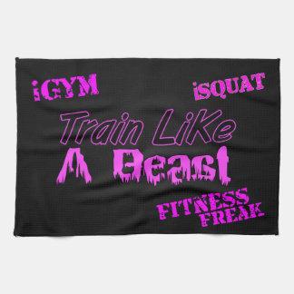 "Train Like A Beast Ladies Gym Towel 16"" x 24"""