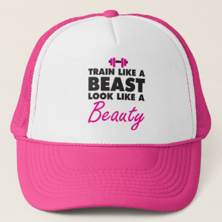 Train Like A Beast, Look Like A Beauty - Gym Trucker Hat