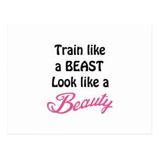 Train Like A Beast Postcard