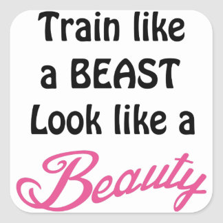 Train Like A Beast Square Sticker