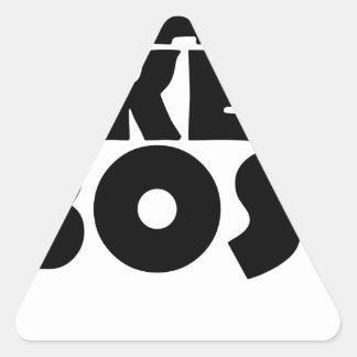 train like a boss triangle sticker