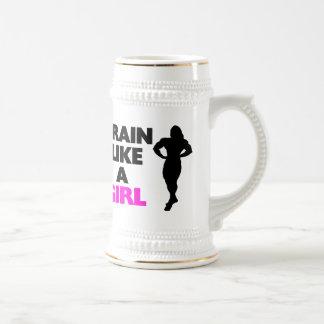 Train Like A Girl Beer Stein