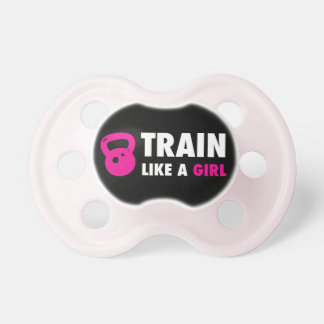Train Like A Girl With Kettlebell Baby Pacifiers