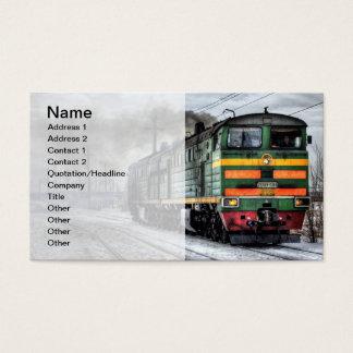 Train Locomotive Business Card Template