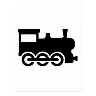 Train locomotive postcard
