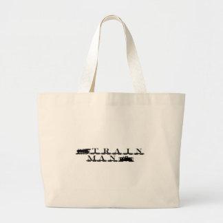 Train man model railroading bag