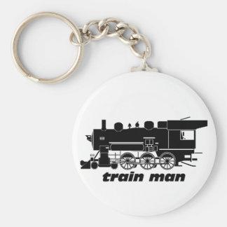 Train Man Model Railroading Key Chains