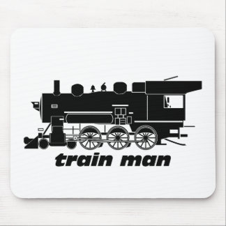 Train Man Model Railroading Mouse Pad