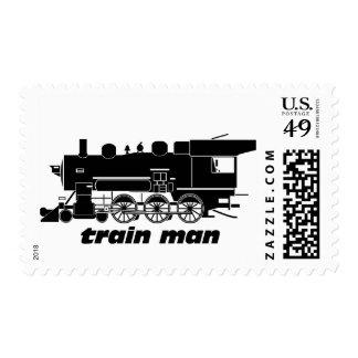 Train Man Model Railroading Postage Stamp