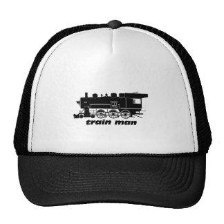 Train Man Model Railroading Trucker Hat