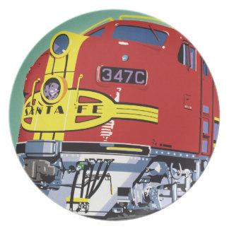 Train Melamine Plate
