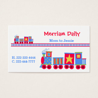 Train Mommy Play Date Card