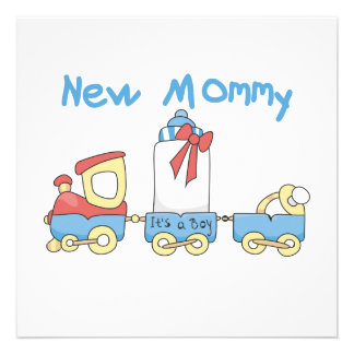 Train New Mommy It s a Boy Gifts Invitations