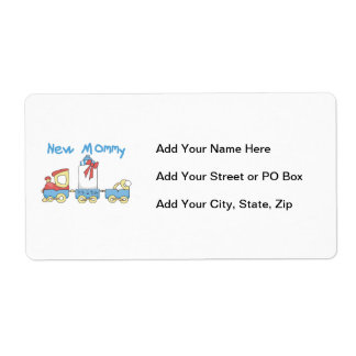 Train New Mommy It s a Boy Gifts Personalized Shipping Label