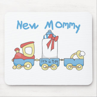 Train New Mommy It's a Boy Mouse Pad