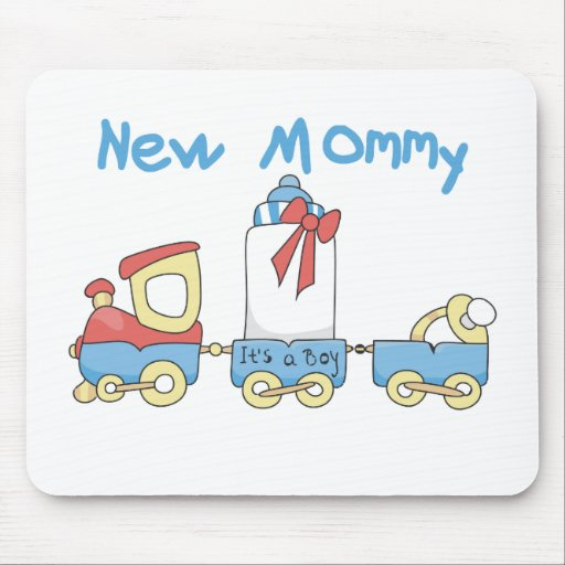 Train New Mommy It's a Boy Mouse Pads