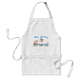 Train New Mommy of Boy tshirts and Gifts Apron