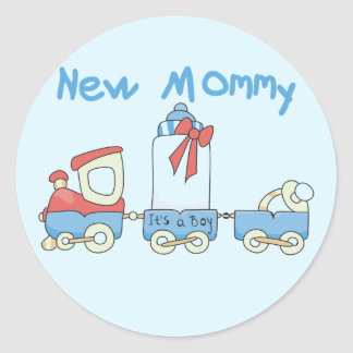 Train New Mommy of Boy tshirts and Gifts Classic Round Sticker