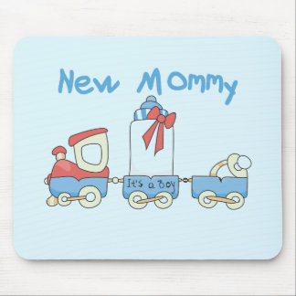 Train New Mommy of Boy tshirts and Gifts Mouse Pad