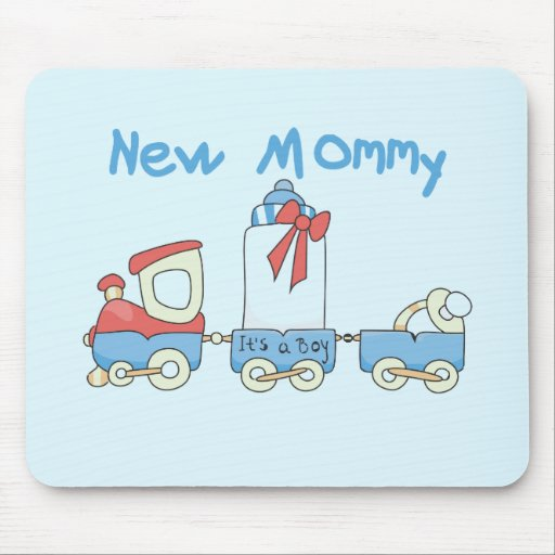 Train New Mommy of Boy tshirts and Gifts Mousepad