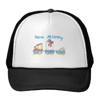 Train New Mommy of Boy tshirts and Gifts Trucker Hat