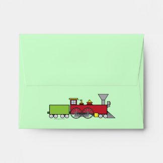 Train Notecard Envelope