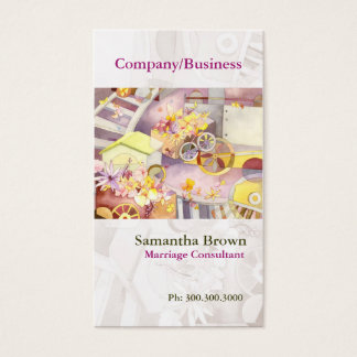 Train of Flowers Artsy Watercolor Business cards