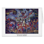Train Of The Epiphany By Gozzoli Benozzo Greeting Card