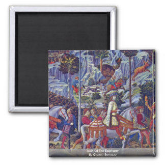 Train Of The Epiphany By Gozzoli Benozzo 2 Inch Square Magnet