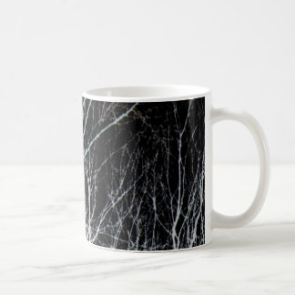 Train of Thought Black & White Forest Landscape Coffee Mug