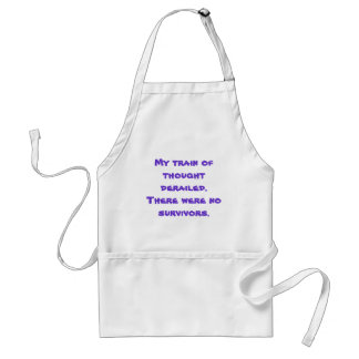 Train of thought derailed adult apron