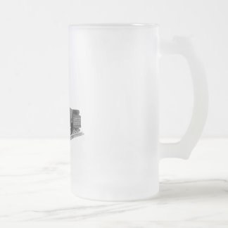 Train of Thought Frosted Glass Beer Mug