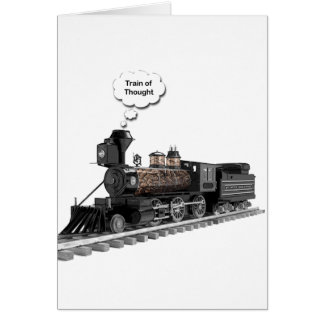 Train of Thought Greeting Card