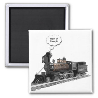 Train of Thought 2 Inch Square Magnet