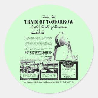 Train Of Tomorrow - New York Central Railroad Classic Round Sticker