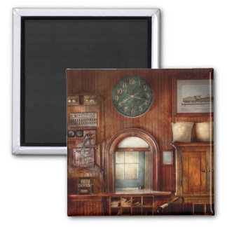Train - Office - The ticket takers window 2 Inch Square Magnet