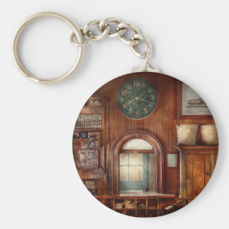 Train - Office - The ticket takers window Basic Round Button Keychain