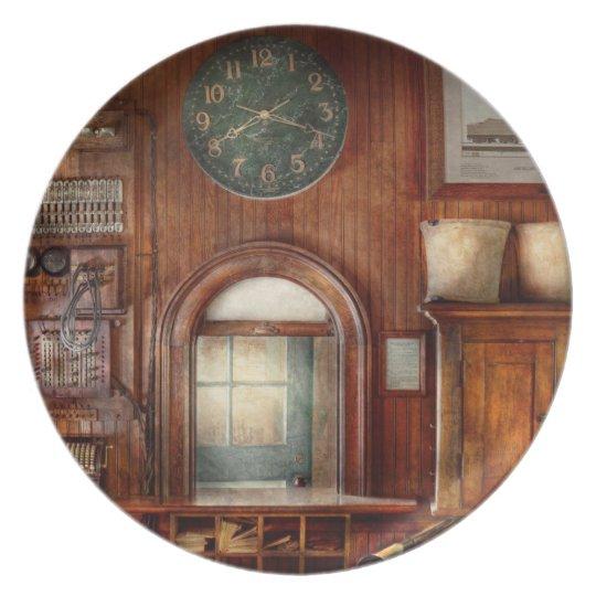 Train - Office - The ticket takers window Melamine Plate