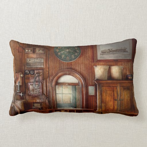 Train - Office - The ticket takers window Throw Pillow