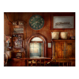 Train - Office - The ticket takers window Postcard