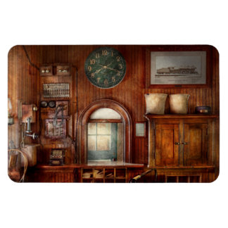 Train - Office - The ticket takers window Rectangular Photo Magnet