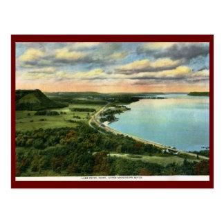Train on Lake Pepin, Minnesota Vintage Post Cards