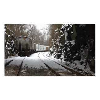 Train On Snowy Track Business Card