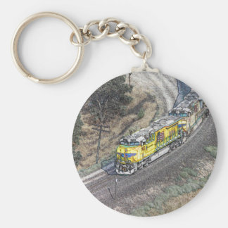 Train on the Tehachapi Loop Keychains