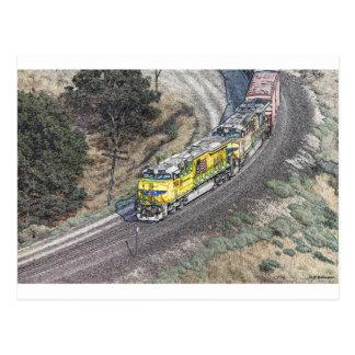 Train on the Tehachapi Loop Postcard