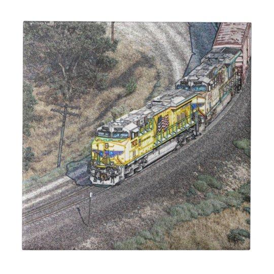 Train on the Tehachapi Loop Tile